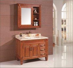 La moda de madera de lujo moderno cuarto de baño Cuarto de baño encimera de mármol Armario de almacenamiento (OT1606)