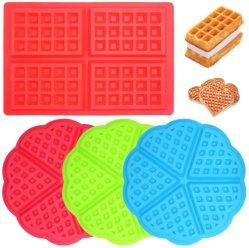 Sanduicheiras Square-Shaped Heart-Shaped Silicone Moldes de cozedura bandejas de muffin torta de Pão de Chocolate