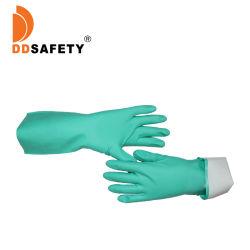 El trabajo de nitrilo resistentes a productos químicos industriales Guante forrado de Flock Guantes de Nitrilo En388 NE420 4101 Entrega rápida EN374-2