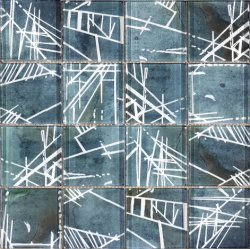 Tintenstrahl Hauptder dekoration-Kunst-moderner Art-3D für Küche-/Fußboden-/Badezimmer-Glasmosaik (G873006)