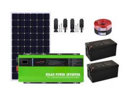 Soem-hybrides Inverter-Sonnenenergie-Ausgangs-PV-System mit Solar Energy Panel-Generator-Batterie-Speicher-Beleuchtungssystem 1000W 3000W 5000W 6000W 8000W weg vom Rasterfeld