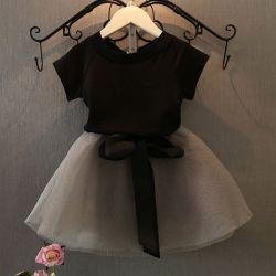 ガールズ &tA ; &tB ; &tC ; &tD ; &tE ; &tF ; &tG ;ショートスリーブ T ステッチヤーンスカート &tH 子供用 sSkirt Princess スカート