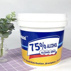 맞춤형 300CT 800CT 1500CT 세척 티슈 Bzk 표면 소독 소독. 소독 알코올 습식 와이프