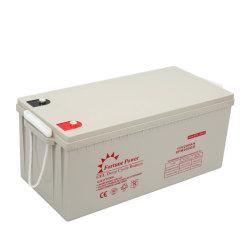 太陽電池パネルシステムホーム電池12V 200ah AGMの深いサイクル電池