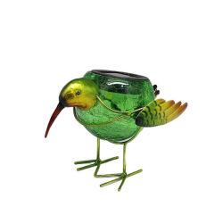 Energía Solar jardín al aire libre Animales pájaro de metal escultura