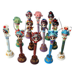 Penna di Ballpoint cinese di opera della resina dei regali creativi all'ingrosso poco costosi dei ricordi