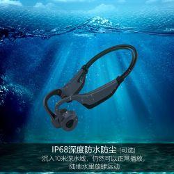 잡음 제거 방수 헤드폰 Bluetooth 5.0 무선 MP3 뼈 전도 이어폰 플레이어