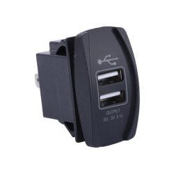 De automatische Lader van Auto 2 USB van de Boot 5V 3.1A Mobiele Dubbele