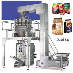 Verpakkende Machine van het Voedsel van de Zak van de Vierling van de Achterkant de Verzegelende Verticale voor Spaanders/Noten/Snack/Suikergoed/Thee/Rijst