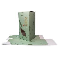 طباعة الأوراق الملونة الخاصة ببطاقة الأبيض Jasmine Tea Box Packaging مع نافذة