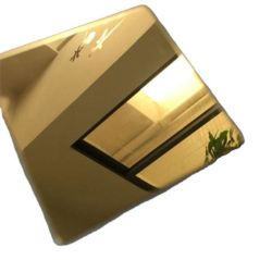 أوراق ملونة مصقولة بالألوان 201 304 ورقة من الفولاذ المقاوم للصدأ ذهبية