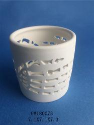 Avec les trous en porcelaine blanche pot de fleurs
