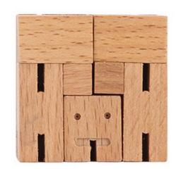 As crianças personalizados por grosso de madeira super inteligente artesanais de cubos educativos brinquedo do Robô