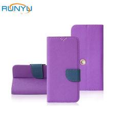 Cuir synthétique à rabat en cuir véritable portefeuille Couvercle étui pour téléphone mobile personnalisé