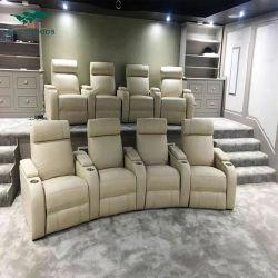 Всего продажи домашнего кинотеатра домашнего кинотеатра из искусственной кожи для отдыха с откидной спинкой стул диван