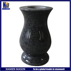 Funérailles de vases de granit noir personnalisé