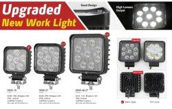 Emark ECE R10 aprobado 12V 24V 12W 18W 24W 27W 48W LED redonda de la plaza de Osram cree Luces de trabajo para la Maquinaria Agrícola tractores Truck Offroad
