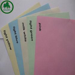 La Chine Golden Usine de papier de couleur personnalisés des prix de gros vert jaune rose blanc CB autocopiant CFD CF papier NCR
