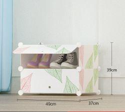 Bricolaje multiuso cubo de plástico de 4 a 8 de estante, armario de zapatos Zapatos ropa de la puerta de patrón