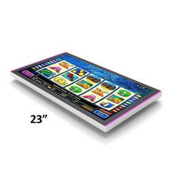 23 인치 열린 구조는 정면 IPS TFT 전시를 가진 전기 용량 10 점 접촉 스크린 모니터 LCD를 계획하고 뒤 LED 바는 전적으로 귀족 나선 기계를 지지한다