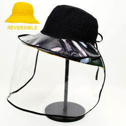 واقي من الضباب قابل للطي لغطاء قبعة الدرع الكامل للسلامة القابل للعكس قبعة للرجال النساء