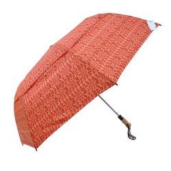 بالجملة رخيصة سعر مقبض خشبيّة نفّس يطوي مظلة اثنان ثني مظلة