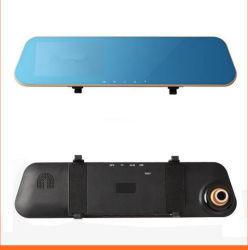 فيديو السيارة عالية الدقة بمرآة الرؤية الخلفية الصغيرة بدقة 1080p وحجم 4.3 بوصات مسجل مسجل الفيديو الرقمي (DVR) كاميرا لوح القيادة