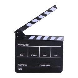 E-Bild Acrylfilm-Studio-Direktor Clapperboard (ECB-01)