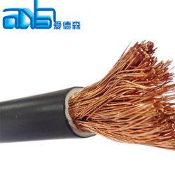 OEMのアメリカの標準黒EPDMの絶縁体電池ケーブルは銅線2/0を2つのゲージAWGの溶接ケーブルの溶接の鉛残した