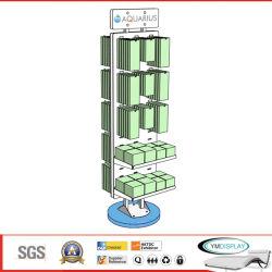 Ausstellungsstand-Doppelt-Acryl drehen Fußboden-Standplatz für Facheinzelhändler -- W051