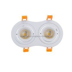3 W * 2-8 W * 2 runde LED-Deckeneinbauleuchte mit Doppeltem Punktlicht, IP20, Led-Downlight In Wohnhäusern