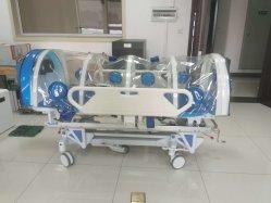 El aislamiento de médicos de medicina de la camilla de transferencia de compartimiento de presión negativa de suministro de equipamiento de cama