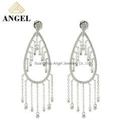 925の女性のための銀製の最高時の宝石類の方法ふさのイヤリングの宝石類