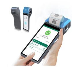 신용 카드 및 바코드 판독기/지문/NFC EMV PCI Android 10.0 비접촉식 IC 카드가 장착된 POS 단말기