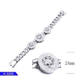 Het Zware Zilver van mensen of Armband van de Halsband van de Keten van de Link van de Juwelen van het Messing de Cubaanse voor Verkoop