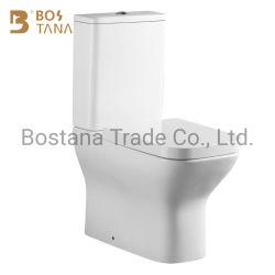 WC de alta qualidade com dois embutidos, sem rebordo, de duas peças, para armário de água
