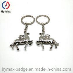 Cavallo Keychain del sacchetto della decorazione dell'anello portachiavi del cavallo del cavallo 3D del metallo