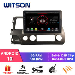 "Auto DVD des Witson 10.2 "" grosses Bildschirmandroid-10 für Honda Civic 2006-2009"
