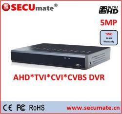 16 Channel H. 265 5MP 4MP 3MP 1080P Ahd Tvi Hybride DVR