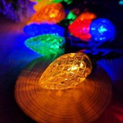C7 50L لون ماسي إضاءة الفراولة حزب تزيين كريسماس الحيوانات الأليفة مصباح LED