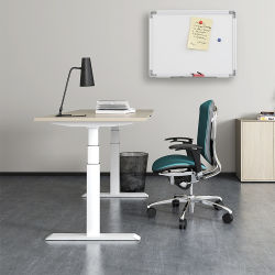 Levage électrique de l'apparence moderne et ergonomique Assis Debout d'ordinateur de bureau réglable en hauteur avec commande à distance