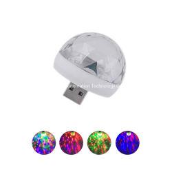 소형 디스코 공을 점화하는 당 훈장 청각 센서 스트로브 DJ 단계를 위한 LED 작은 마술 공이 USB 당에 의하여 점화한다