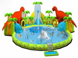 漕ぐプールの弾力がある城が付いている膨脹可能な水スライド