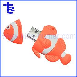 De Aandrijving van het Geheugen van de Flits van pvc USB van de Vissen van Nemos als Gift van de Bevordering