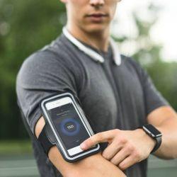 Téléphone cellulaire brassard sport colorés de l'exécution Téléphone Mobile en néoprène Incase pour iPhone 8 et 8 Plus gratuitement