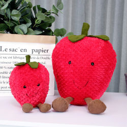 Anthropomorphes Frucht-Form-Entwurfs-Kissen-nettes weiches Material-Erdbeere-Kissen