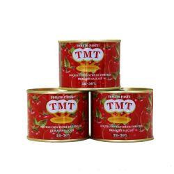Pasta de color rojo Tin pasta de tomate con marca de TMT