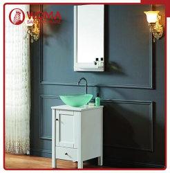 ガラス流し(1003A)とのWomaの純木の浴室の虚栄心