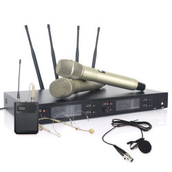 Sinbosen Axt220d Professional gravata de lapela UHF Digital Microfone Clip universal sem fio