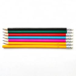 消す物が付いている木のHbの執筆鉛筆18年の製造業者の高品質の